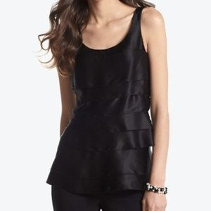 White House Black Market Silk Tiered Shell Top